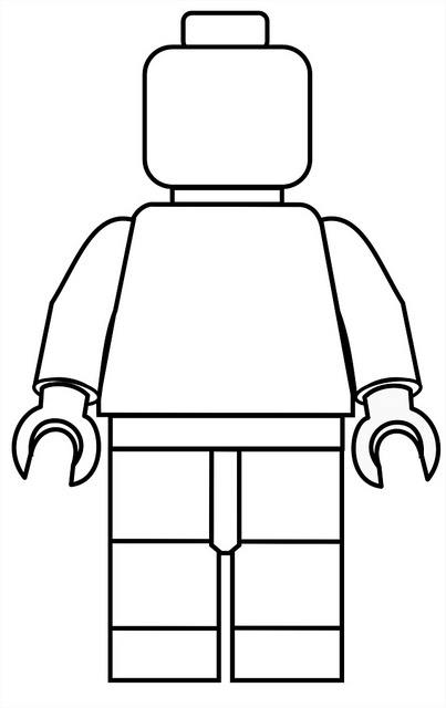 It is an image of Declarative lego person coloring page