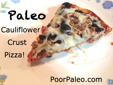 The Best Paleo Cauliflower Crust Pizza!