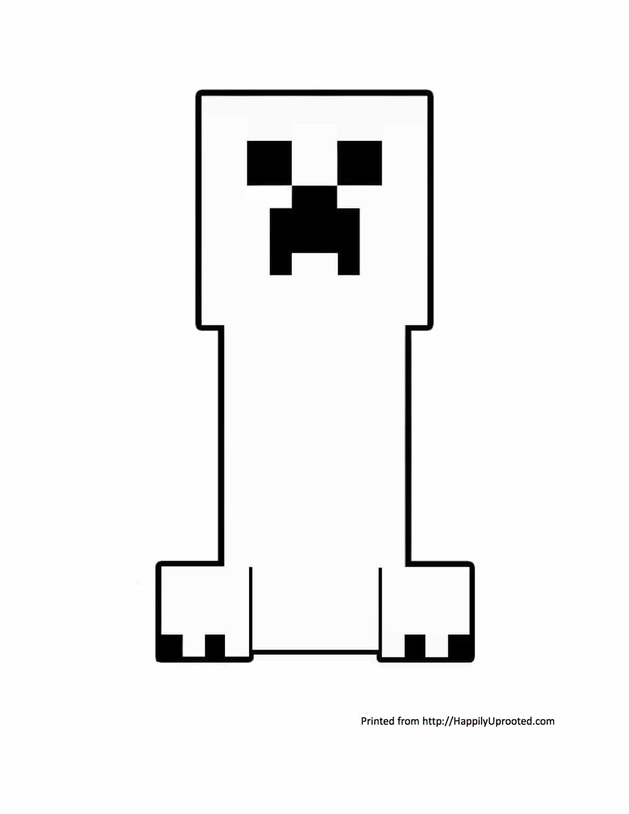 Minecraft creeper coloring page!