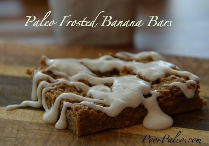 Paleo Frosted Banana Bars