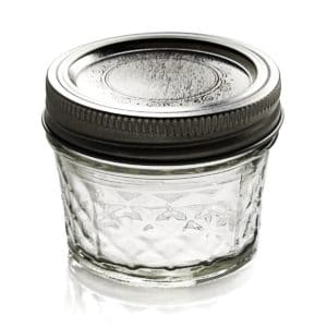 Ball Jar Crystal Jelly Jars with Lids and Bands, Quilted, 4-Ounce, Set of 12 Only 8.47!