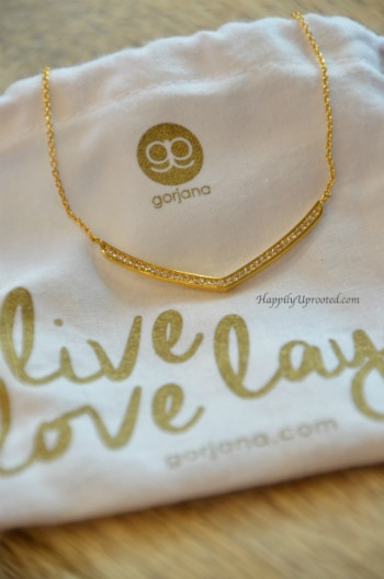 Gorjana Shimmer V Necklace Gold Stitch Fix